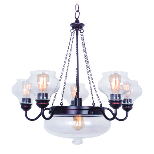 Jeremiah Lighting Jeremiah Yorktown Oil Rubbed Gilded Chandeliers with Center Bowl 35026-OBG