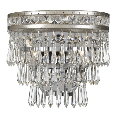 Crystorama Lighting Crystorama Lighting Mercer Olde Silver Sconce 5261-OS-CL-MWP