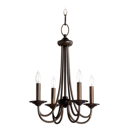 Quorum Lighting Quorum Lighting Brooks Oiled Bronze Mini-Chandelier 6050-4-86