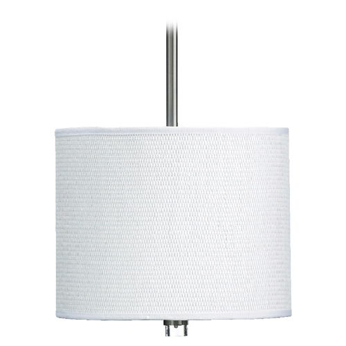 Quorum Lighting Quorum Lighting Copeland Satin Nickel Pendant Light with Drum Shade 859-12-65