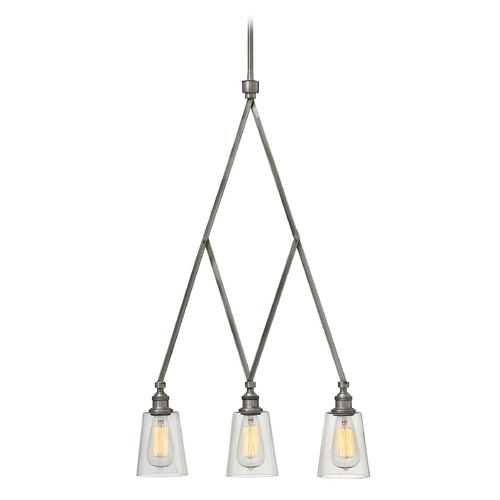 Hinkley Lighting Hinkley Lighting Gatsby Polished Antique Nickel Chandelier 4933PL
