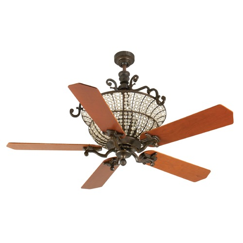 Craftmade Lighting Craftmade Lighting Cortana Peruvian Bronze Ceiling Fan with Light K10877