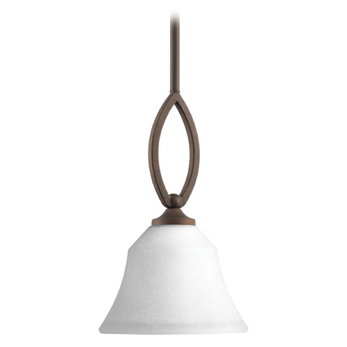 Progress Lighting Progress Lighting Monogram Roasted Java Mini-Pendant Light with Bell Shade P5621-102