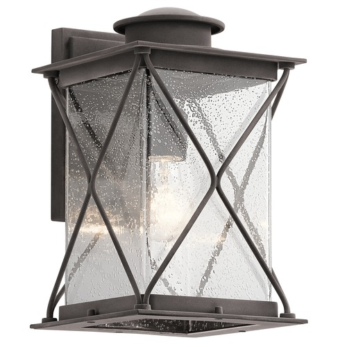 Kichler Lighting Kichler Lighting Argyle Weathered Zinc LED Outdoor Wall Light 49744WZCL16