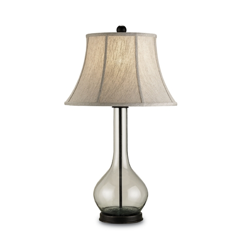 Currey and Company Lighting Modern Table Lamp in Bronze/recycled Glass Finish 6164