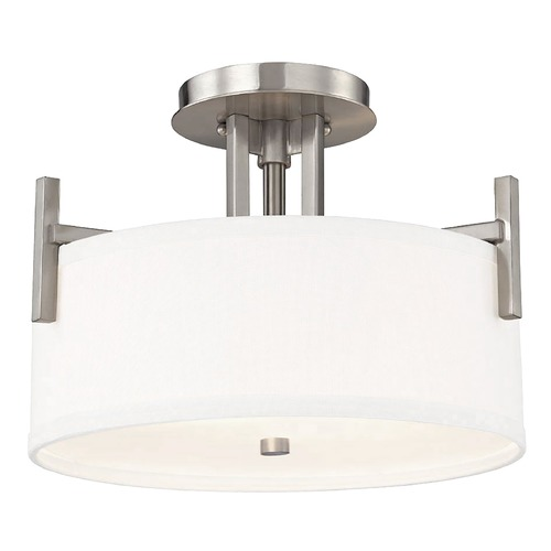 Dolan Designs Lighting Dolan Designs Tecido Satin Nickel Semi-Flushmount Light 2975-09