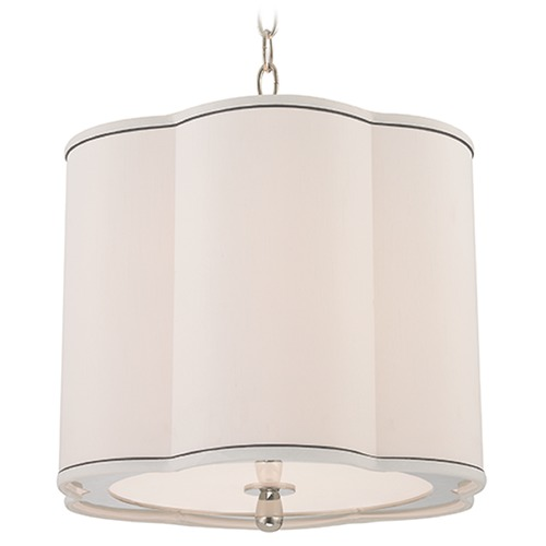 Hudson Valley Lighting Sweeny 3 Light Pendant Light Drum Shade - Polished Nickel 7915-PN