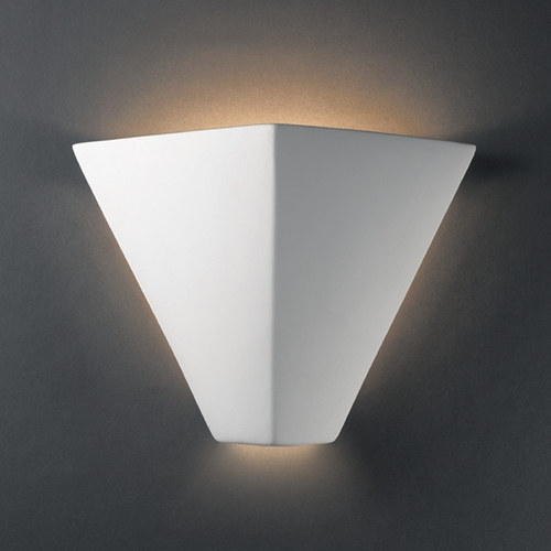 Justice Design Group Sconce Wall Light in Bisque Finish CER-5130-BIS
