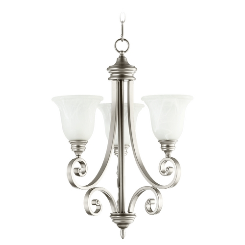 Quorum Lighting Quorum Lighting Bryant Classic Nickel Mini-Chandelier 6154-3-64