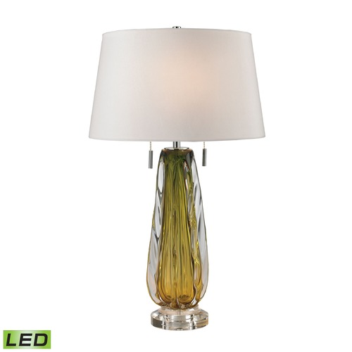 Dimond Lighting Dimond Lighting Green LED Table Lamp with Empire Shade D2670W-LED