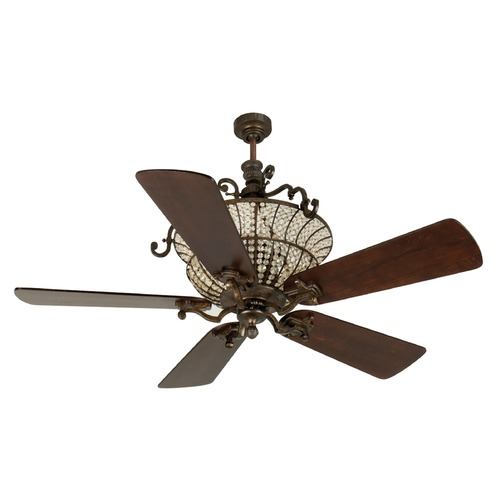 Craftmade Lighting Craftmade Lighting Cortana Peruvian Bronze Ceiling Fan with Light K10878