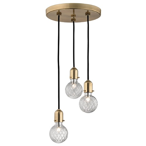 Hudson Valley Lighting Marlow 3 Light Multi-Light Pendant - Aged Brass 1103-AGB