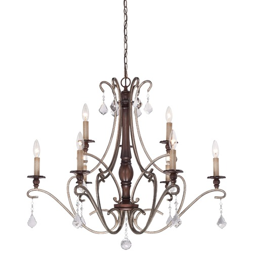 Minka Lavery Minka Gwendolyn Place Dark Rubbed Sienna with Aged Silver Chandelier 4359-593