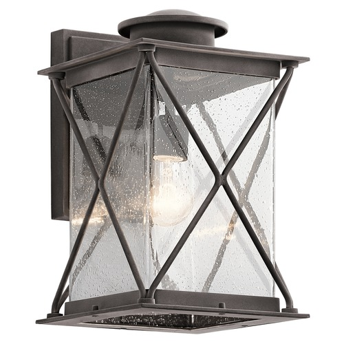 Kichler Lighting Kichler Lighting Argyle Weathered Zinc Outdoor Wall Light 49745WZC