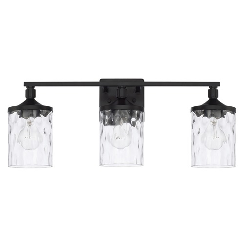 HomePlace by Capital Lighting Homeplace By Capital Lighting Colton Matte Black Bathroom Light 128831MB-451