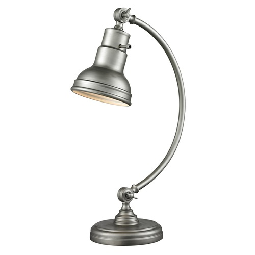 Z-Lite Z-Lite Ramsay Burnished Silver Table Lamp with Bowl / Dome Shade TL119-BS