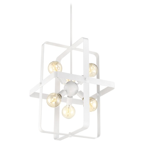 Nuvo Lighting Satco Lighting Prana White Pendant Light 60/6723