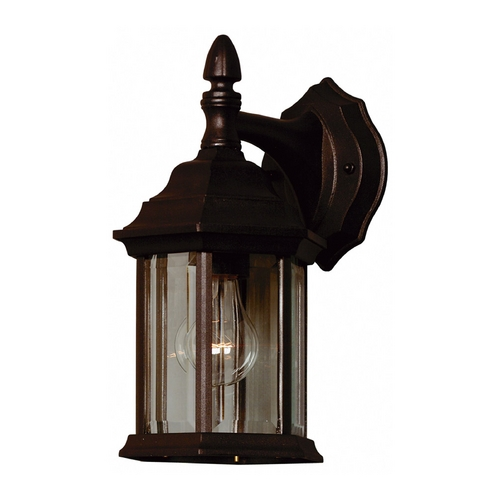 Kenroy Home Lighting Custom Fit Outdoor Wall Light with Clear Glass in Black Finish 16266BL