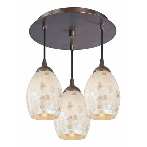 Design Classics Lighting 3-Light Semi-Flush Ceiling Light in Bronze Finish - Bronze Finish 579-220 GL1034