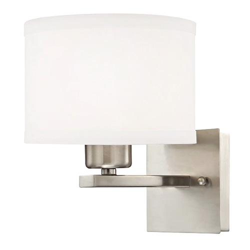 Dolan Designs Lighting Dolan Designs Tecido Satin Nickel Sconce 2976-09