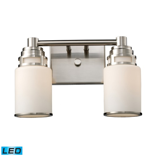 Elk Lighting Elk Lighting Bryant Satin Nickel LED Bathroom Light 11265/2-LED