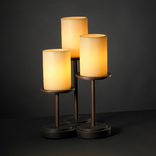Justice Design Group Justice Design Group Candlearia Collection Table Lamp CNDL-8797-10-AMBR-DBRZ