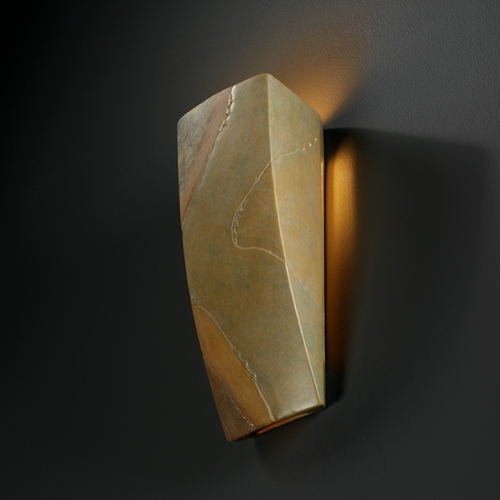 Justice Design Group Sconce Wall Light in Harvest Yellow Slate Finish CER-5135-SLHY