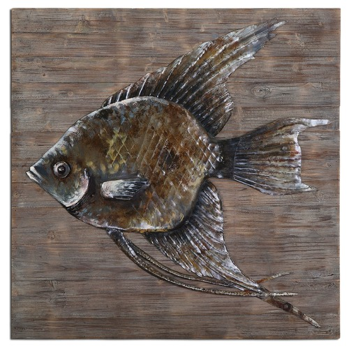 Uttermost Lighting Uttermost Iron Fish Wall Art 04273