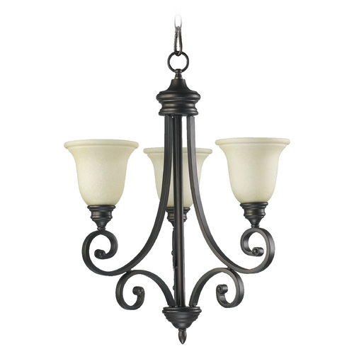 Quorum Lighting Quorum Lighting Bryant Oiled Bronze Mini-Chandelier 6154-3-86