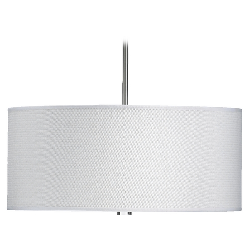Quorum Lighting Quorum Lighting Copeland Satin Nickel Pendant Light with Drum Shade 859-23-65