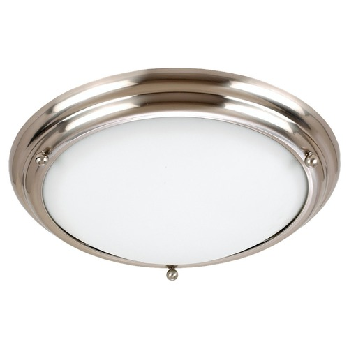 Sea Gull Lighting Sea Gull Lighting Centra Brushed Stainless LED Flushmount Light 7909791S-98