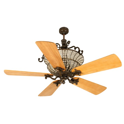 Craftmade Lighting Craftmade Lighting Cortana Peruvian Bronze Ceiling Fan with Light K10879