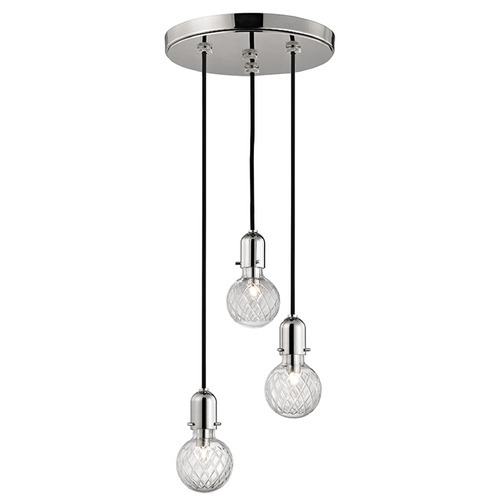 Hudson Valley Lighting Marlow 3 Light Multi-Light Pendant - Polished Nickel 1103-PN