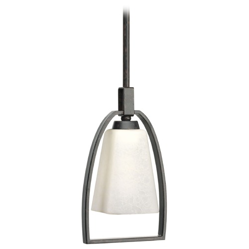 Progress Lighting Progress Lighting Ridge Espresso Mini-Pendant Light with Square Shade P5009-84