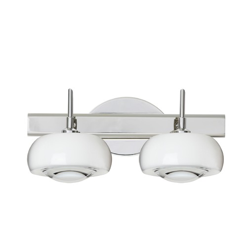 Besa Lighting Besa Lighting Focus Chrome LED Bathroom Light 2SW-2634CL-LED-CR