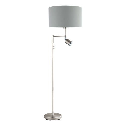 Eglo Lighting Eglo Santander Matte Nickel Swing Arm Lamp with Drum Shade 201828A