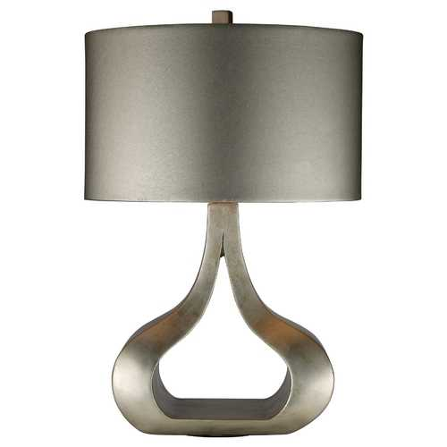 Elk Lighting Modern Table Lamp with Silver Shade in Silver Leaf Finish D1840