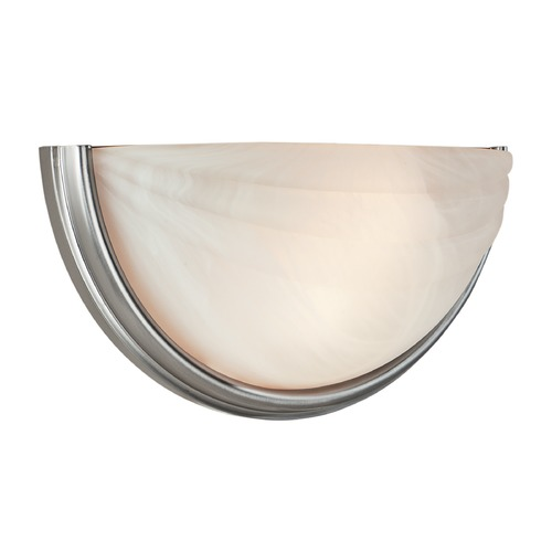 Access Lighting Modern Sconce Wall Light with Alabaster Glass in Satin Nickel Finish 20635-SAT/ALB