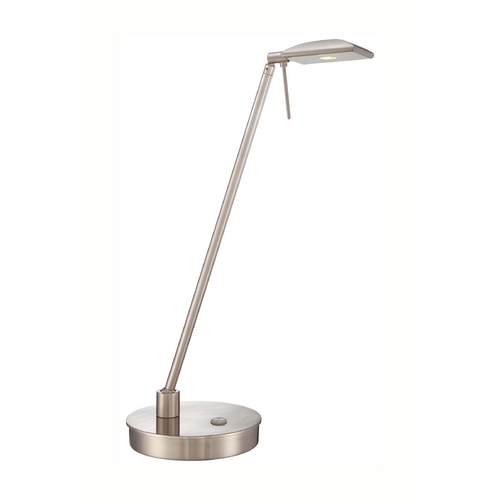 George Kovacs Lighting Modern LED Desk Lamp in Brushed Nickel Finish P4326-084