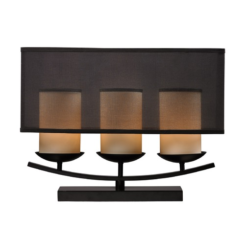 Dimond Lighting Dimond Lighting Bronze Paint Table Lamp with Rectangle Shade D2300