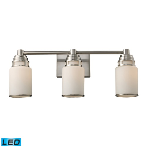 Elk Lighting Elk Lighting Bryant Satin Nickel LED Bathroom Light 11266/3-LED