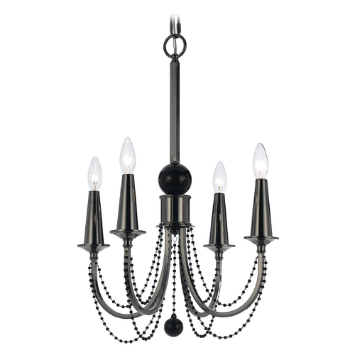 AF Lighting AF Lighting Black Nickel Mini-Chandelier 8447-4H