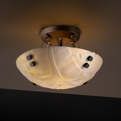 Justice Design Group Justice Design Group Porcelina Collection Semi-Flushmount Light PNA-9650-35-BANL-DBRZ-F1