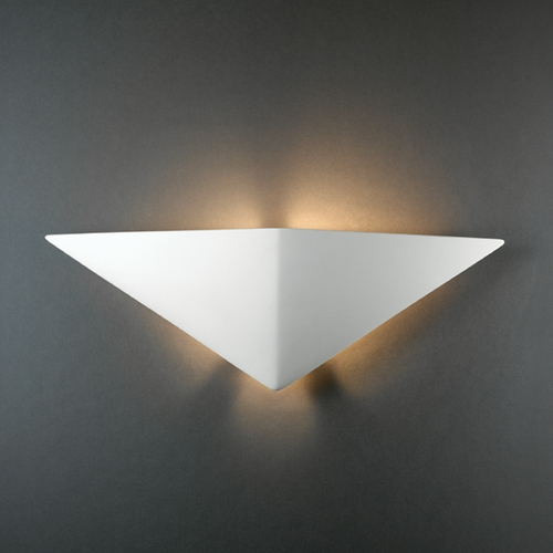 Justice Design Group Sconce Wall Light in Bisque Finish CER-5140-BIS