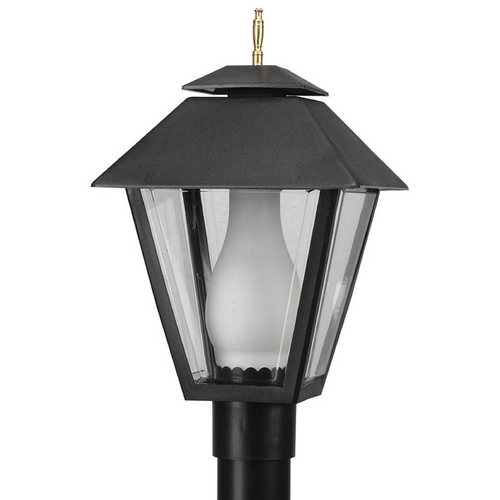 Wave Lighting Wave Lighting Marlex Colonial Black Post Light 112-G18