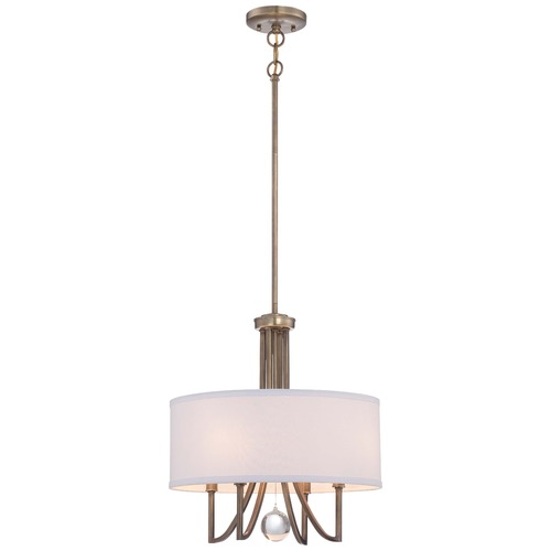 Minka Lavery Minka Malibu Gold Pendant Light with Drum Shade 4424-569