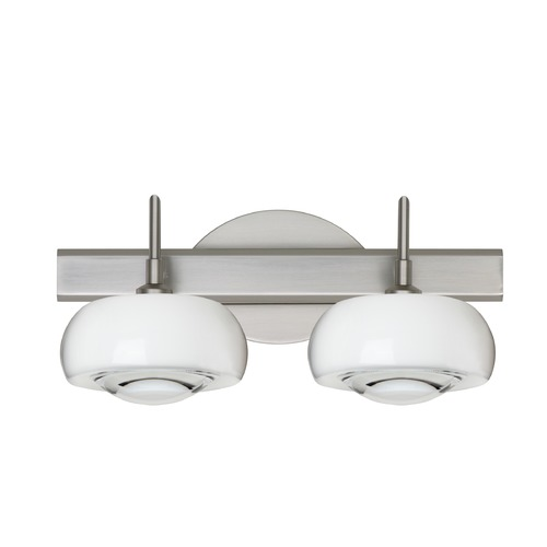 Besa Lighting Besa Lighting Focus Satin Nickel LED Bathroom Light 2SW-2634CL-LED-SN