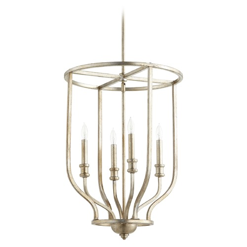 Quorum Lighting Quorum Lighting Richmond Aged Silver Leaf Pendant Light 6711-4-60