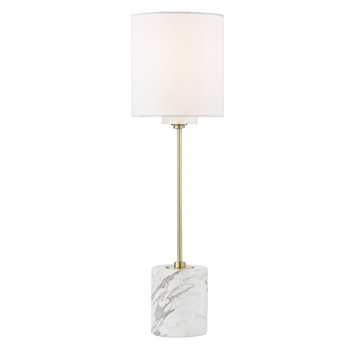 Mitzi by Hudson Valley Contemporary Table Lamp Brass Mitzi Fiona by Hudson Valley HL153201-AGB