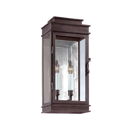 Troy Lighting Outdoor Wall Light with Clear Glass in Vintage Bronze Finish B2972